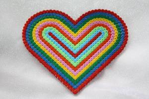 Hama Bead Heart - Mother'd Day Gift from my son 2010